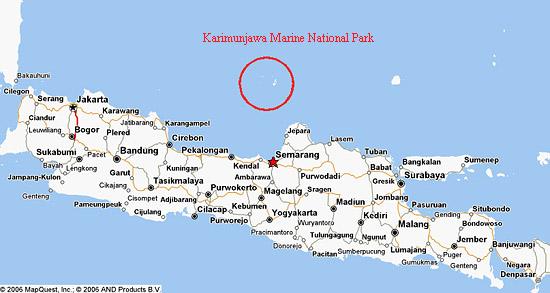 lokasi pulau karimunjawa